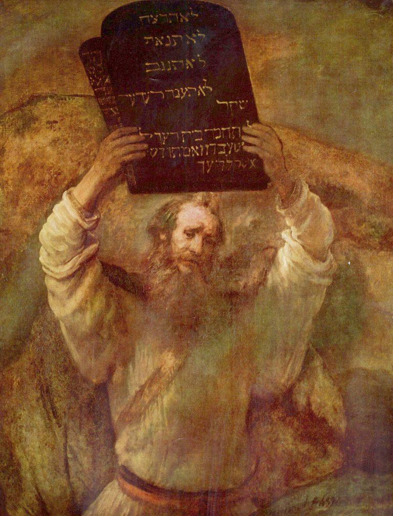 Моисей, разбивающий скрижали Завета