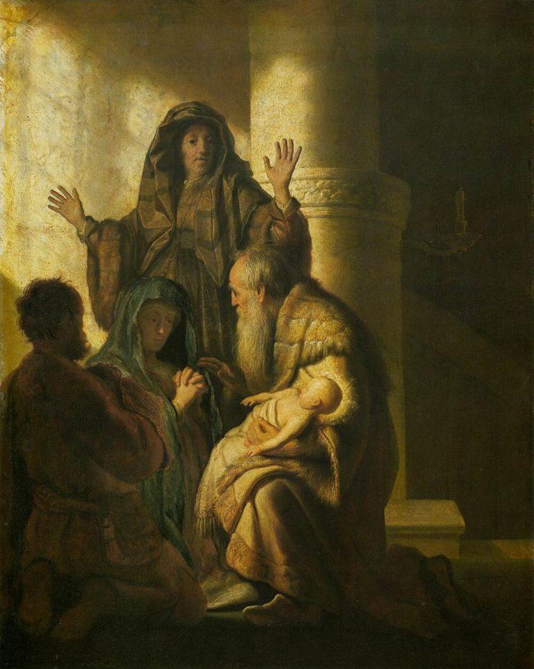 Анна и Симеон в храме